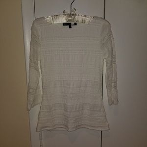 PRICEDROP! NWOT WHBM White Lacy Top